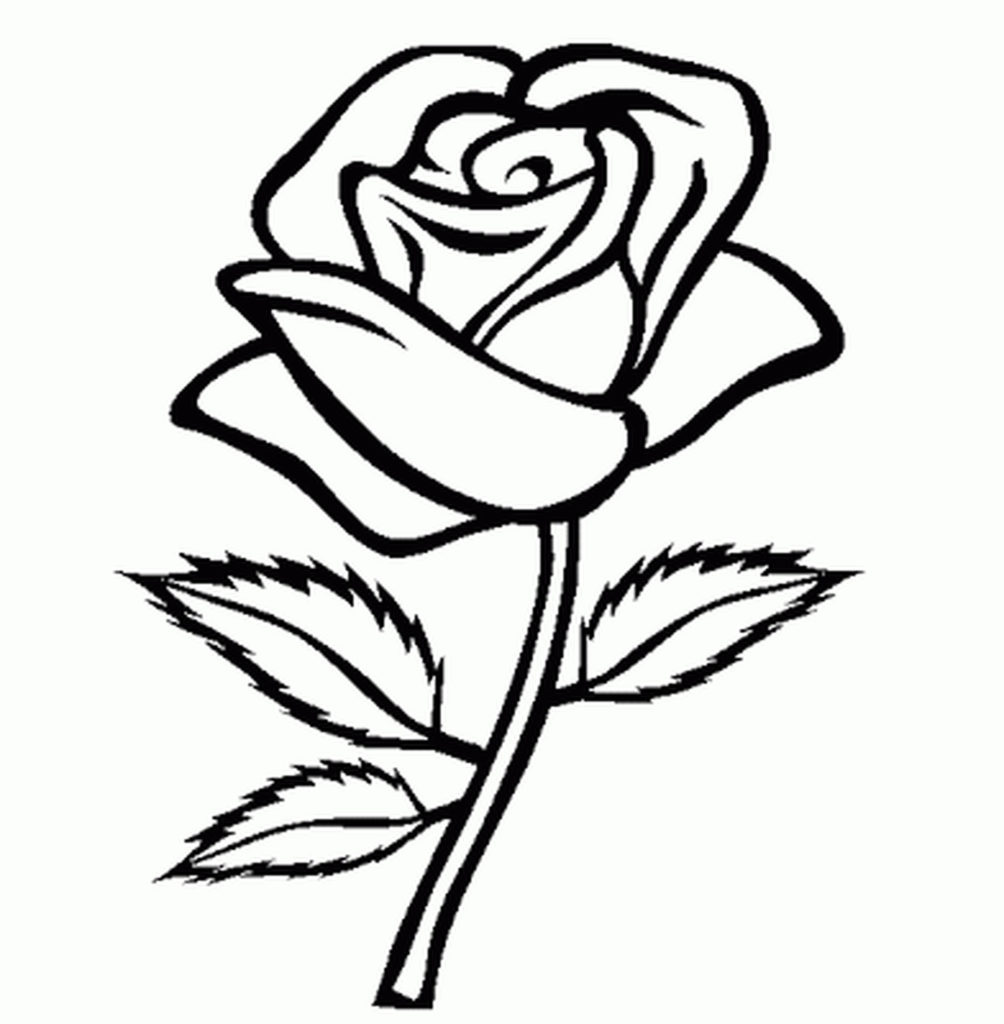 1004x1024 Coloring Pages Flower Coloring Pages For Girls Easy Printable