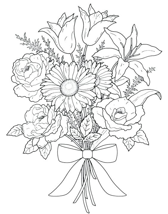 564x720 Elegant Easy Adult Coloring Pages Or Flower Coloring Best Adult