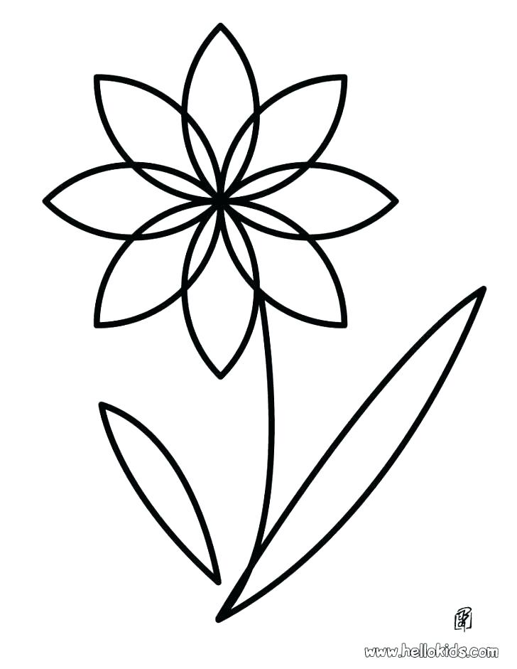 728x941 Coloring Pages Flowers Printable Easy Flower Coloring Pages These