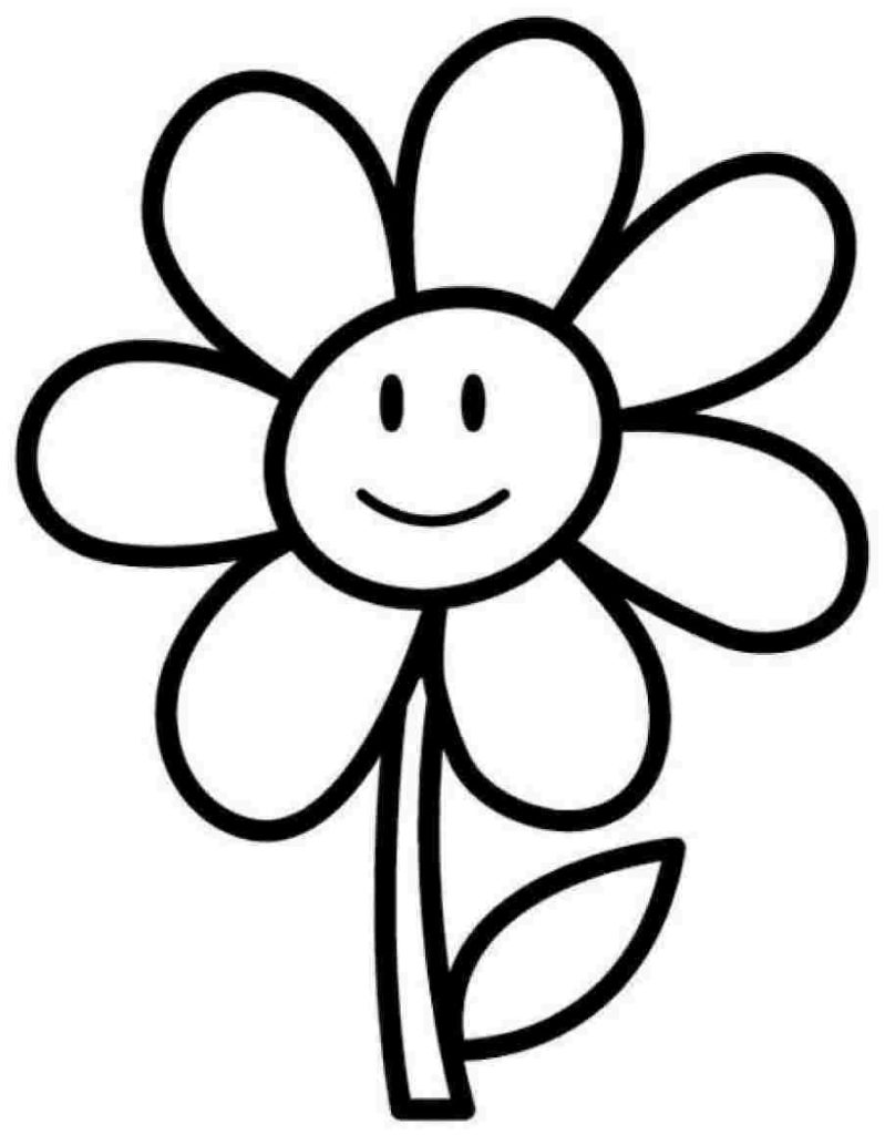 799x1024 Coloring Pages For Girls Flowers Easy Page Flower