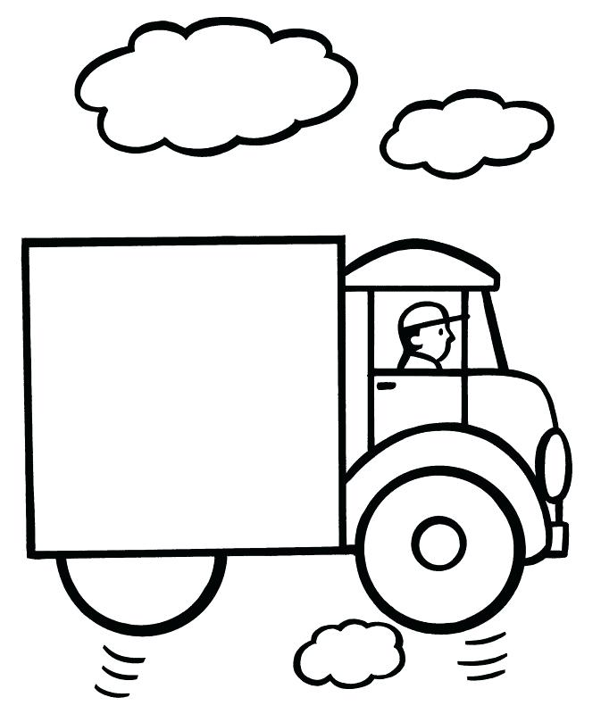 673x800 Easy Coloring Pages Easy Coloring Pages Truck Easy Mandala