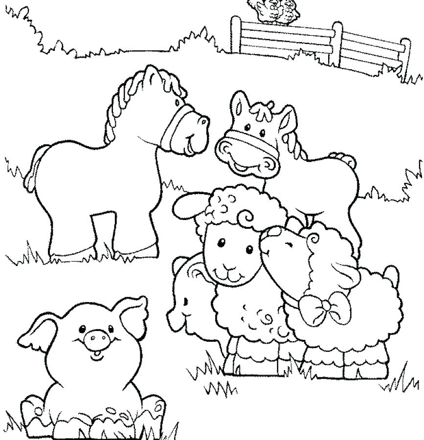 867x900 Printable Farm Coloring Pages Outstanding Barnyard Animals