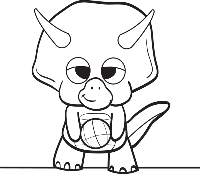 700x609 Baby Dinosaur Coloring Pages