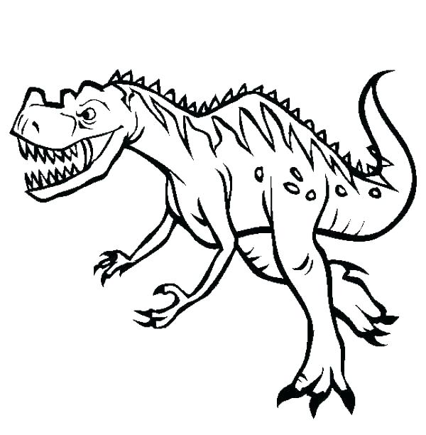 600x612 Childrens Dinosaur Coloring Pages Easy Coloring Pages Dinosaurs