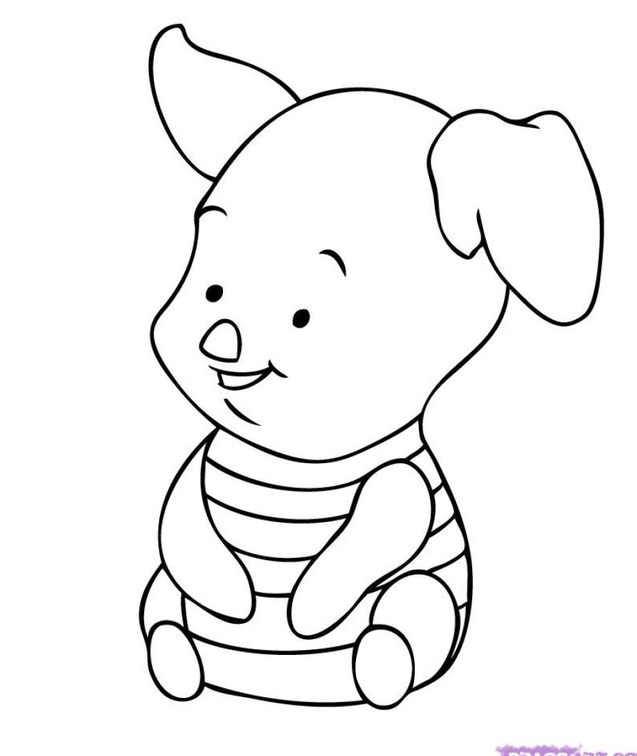 Easy Disney Coloring Pages At Getdrawings Com Free For Personal