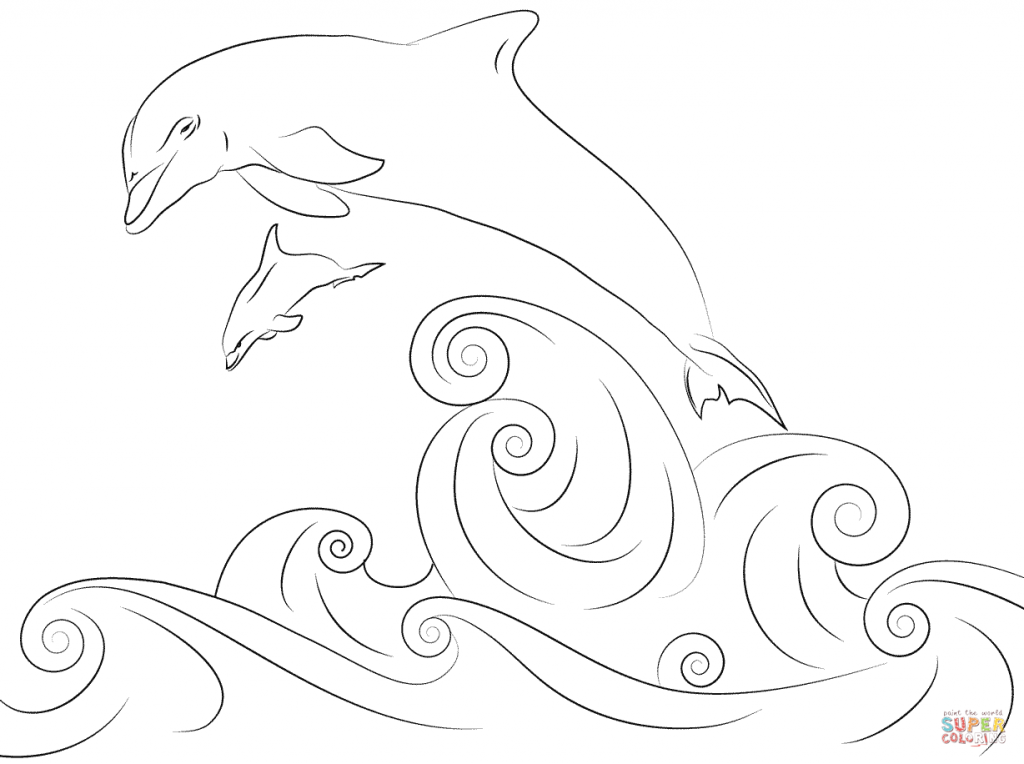 Easy Dolphin Coloring Pages at GetDrawings.com | Free for ...