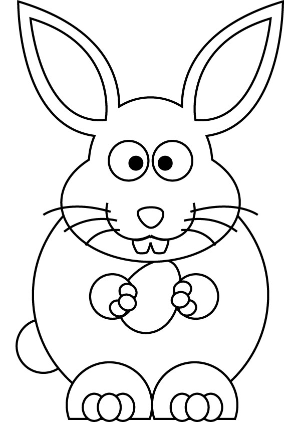 Easy Easter Bunny Coloring Pages At Getdrawings Com Free For