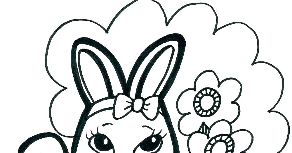 1000x523 Bunny Coloring Page Simple Easter Bunny Coloring Book Pages Bunny