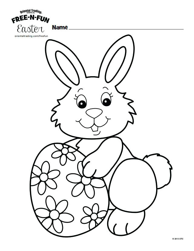 Cute Easter Bunny and Eggs coloring page | Free Printable Coloring ... | 830x641