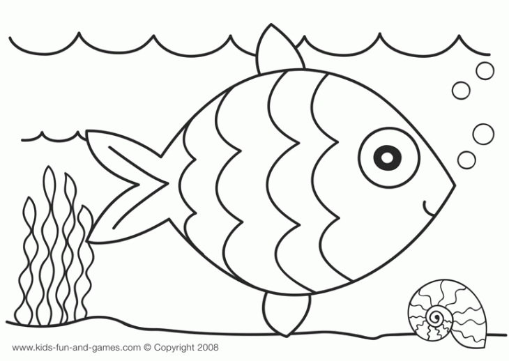 Easy Fish Coloring Pages At Getdrawings Com Free For