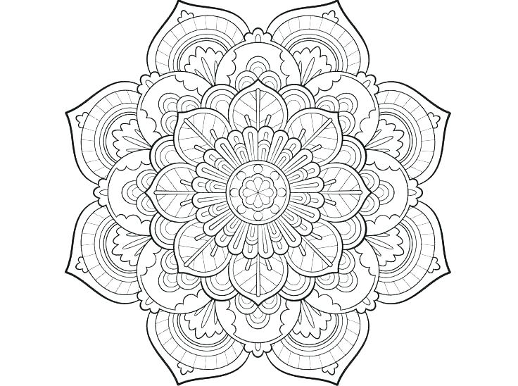 736x548 Mandalas Coloring Pages Easy Mandala Coloring Pages Mandalas