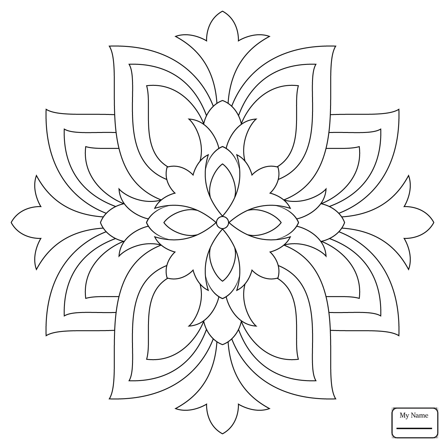 Easy Flower Mandala Coloring Pages at GetDrawings.com | Free ...