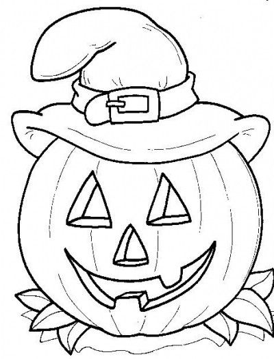 Easy Halloween Coloring Pages