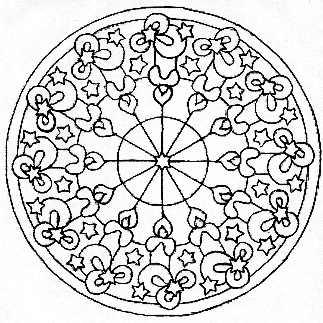 Easy Henna Coloring Pages