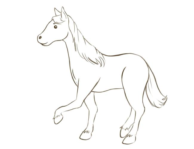 650x500 Simple Horse Coloring Pages Simple Horse Coloring Pages Seahorse