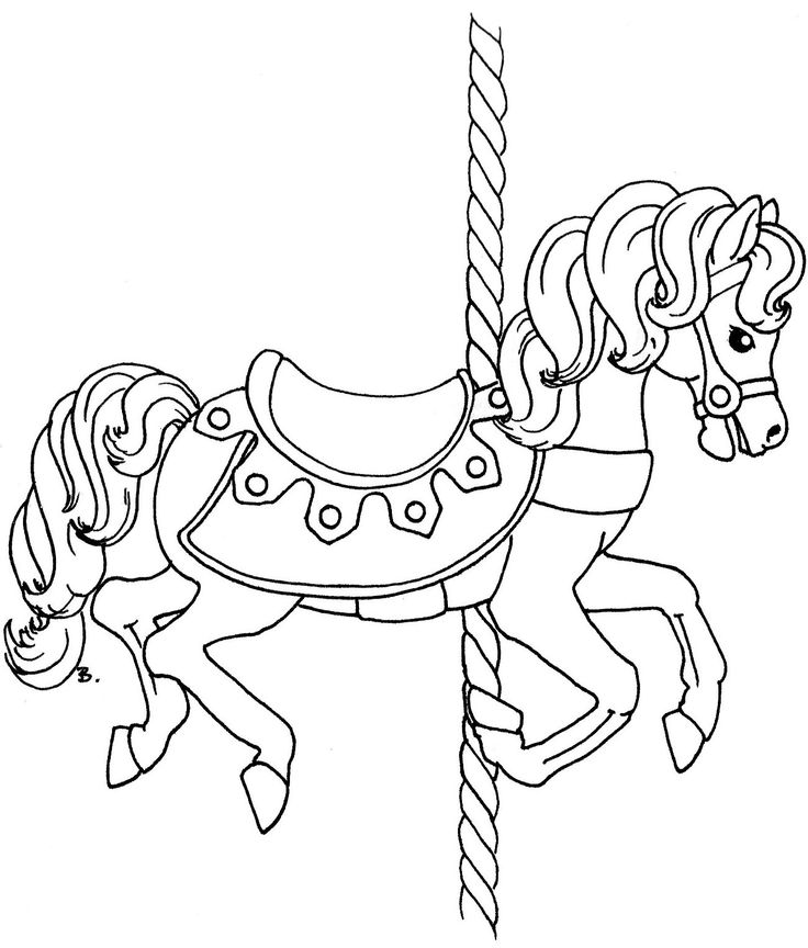 736x864 Carousel Horses Coloring Pages Stunning Carousel Animals Coloring