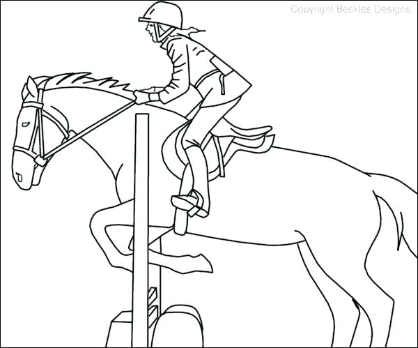 600x499 Coloring Page Of Horse Simple Horse Coloring Pages Horse Easy