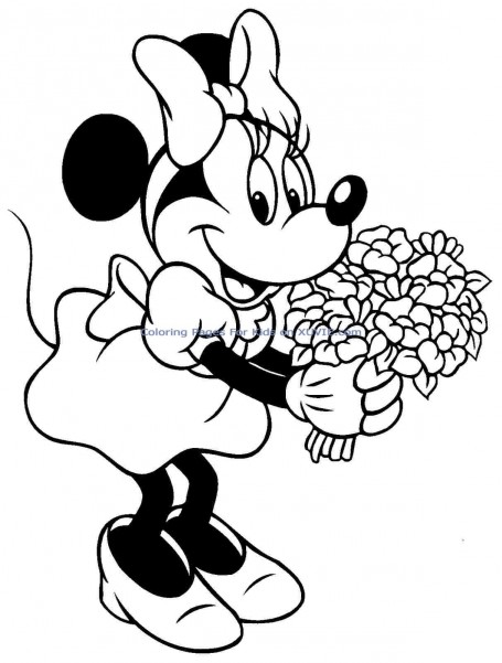 455x601 Minnie Mouse Coloring Pages Free Cartoons Coloring