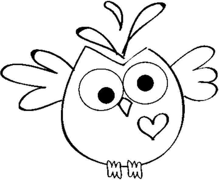 Easy Owl Coloring Pages