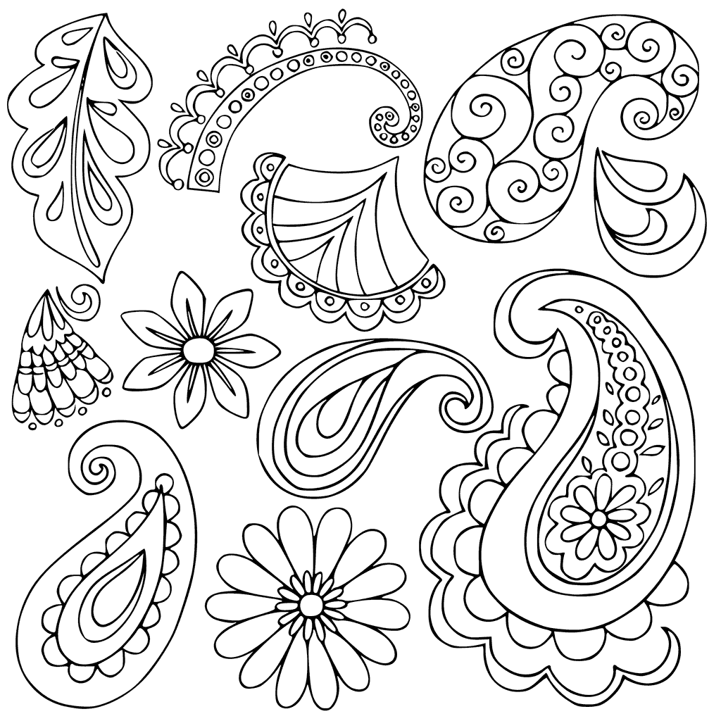 Easy Paisley Coloring Pages at GetDrawings | Free download