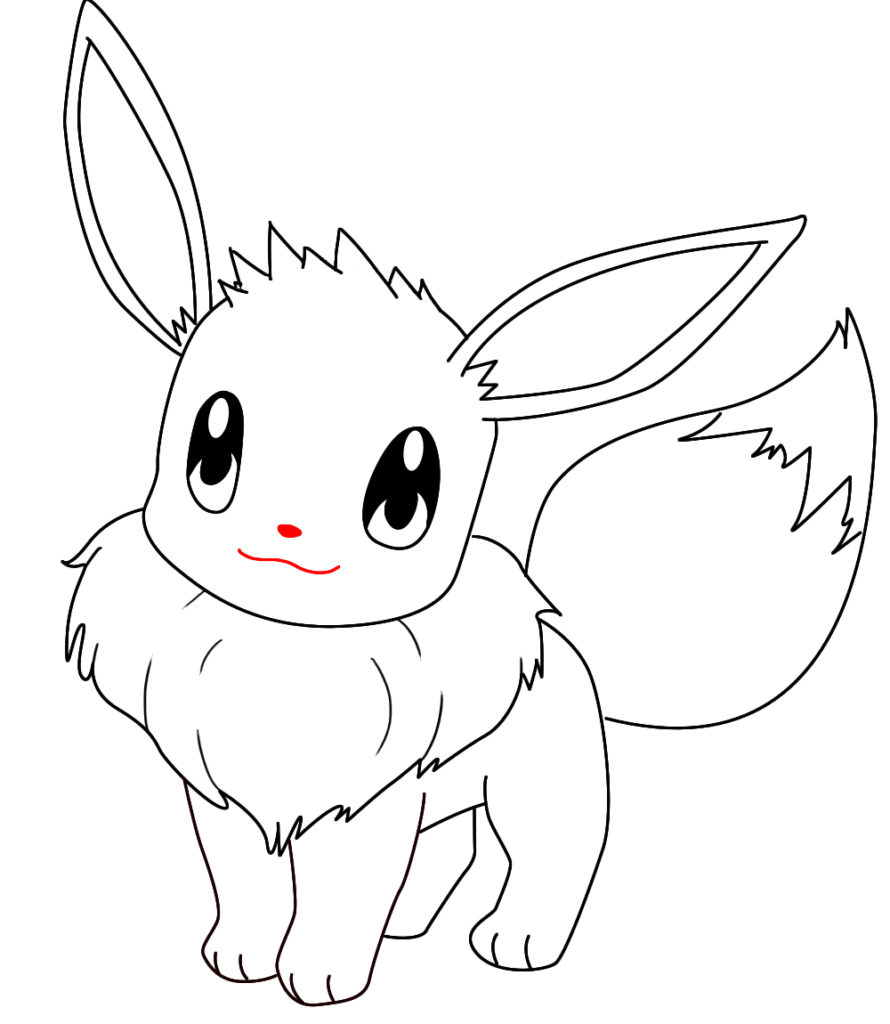 890x1024 Eevee Coloring Page Free Printable Pages Inside Pokemon