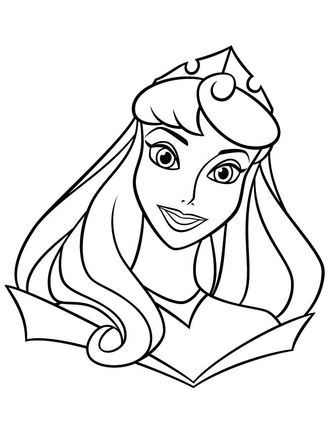 670x867 Princess Coloring Pages Easy Coloring Pages Princess Coloring Page