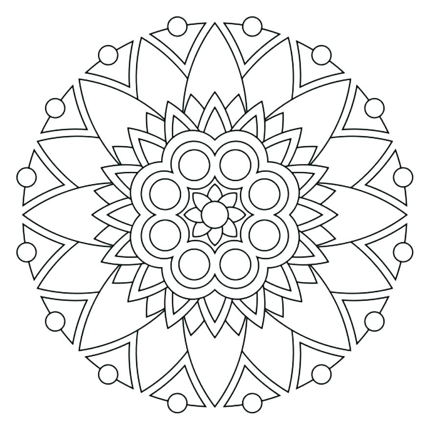 878x878 Coloring Pages Of Mandalas Coloring Sheets Of Mandalas Easy