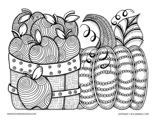 Easy Pumpkin Coloring Pages