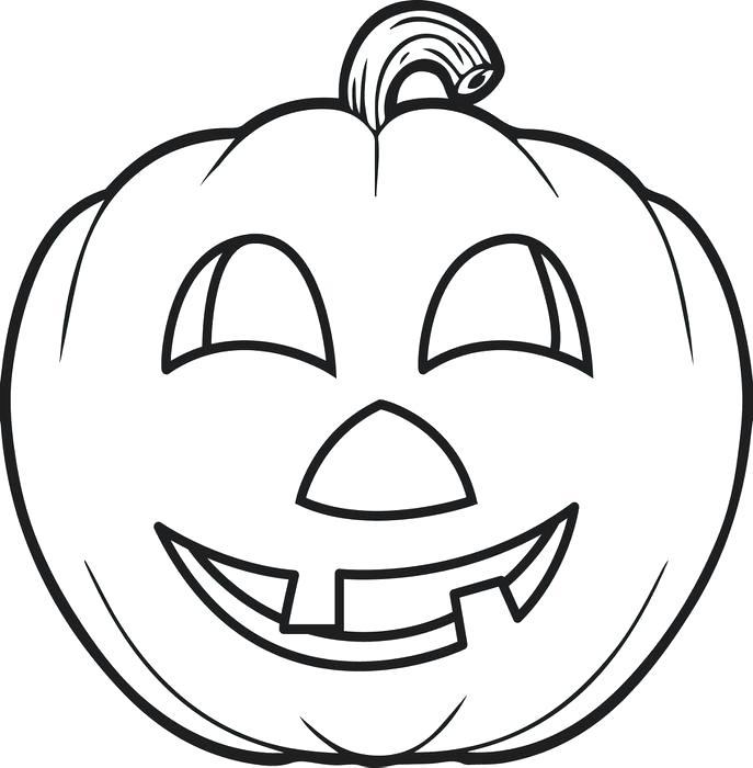 687x700 Pumpkin Color Pages Printable Pumpkin Ng Pages For Kids Pumpkin