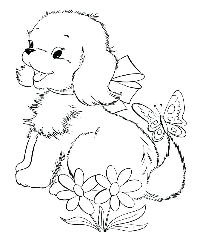 Easy Puppy Coloring Pages