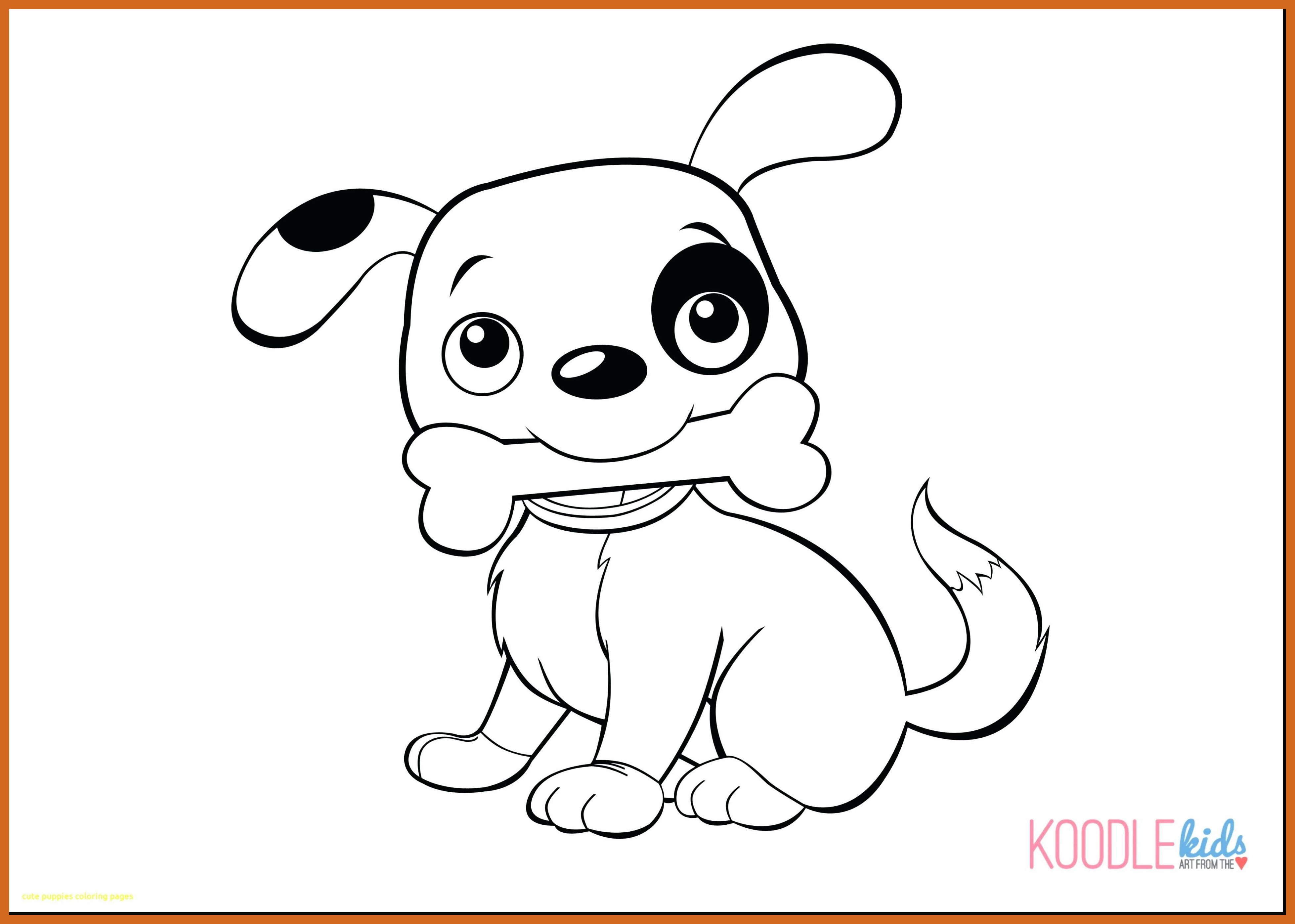 3915x2793 Astonishing Puppy Drawing Cute Easy Cartoon Of Coloring Pages