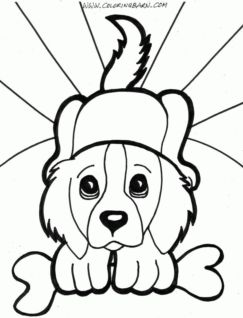 1000x1307 Simple Animal Drawing Puppy Coloring Pages For All Agespuppy