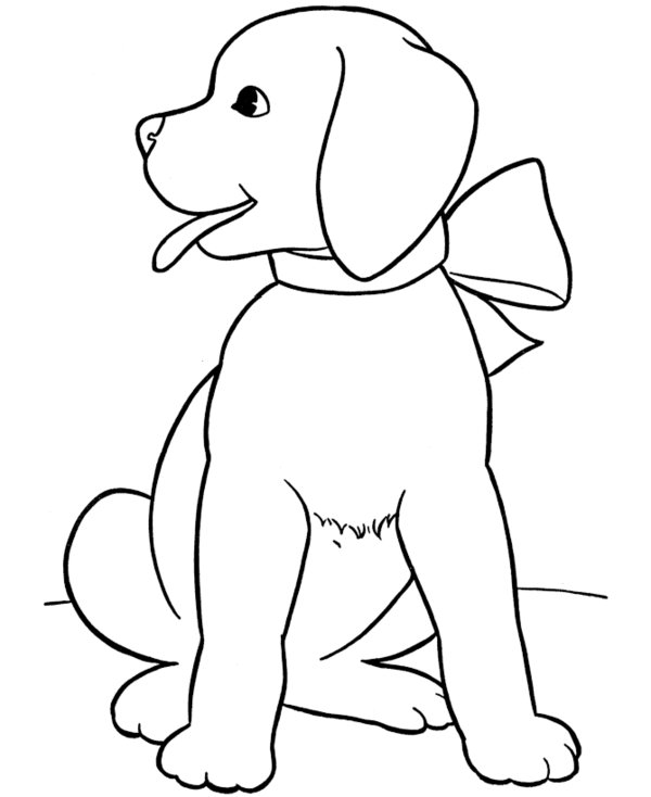 600x734 Best Puppy Coloring Page Free Printable