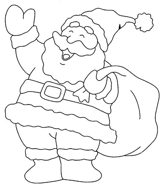 574x658 Coloring Pages Santa Clause