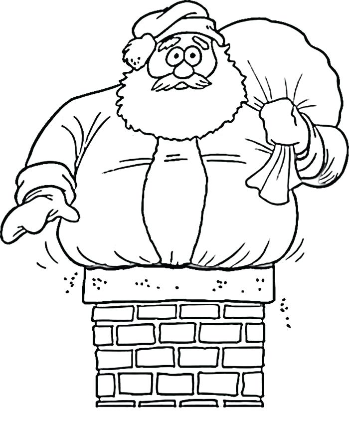 700x852 Santa Coloring Sheets Printable