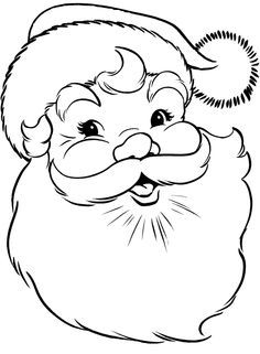 236x321 Easy Santa Claus Face Clipart Silhouette Stuff