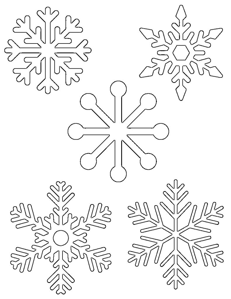 791x1024 Free Printable Snowflake Templates Large Small Stencil