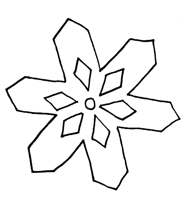 700x771 Free Snowflake Coloring Pages