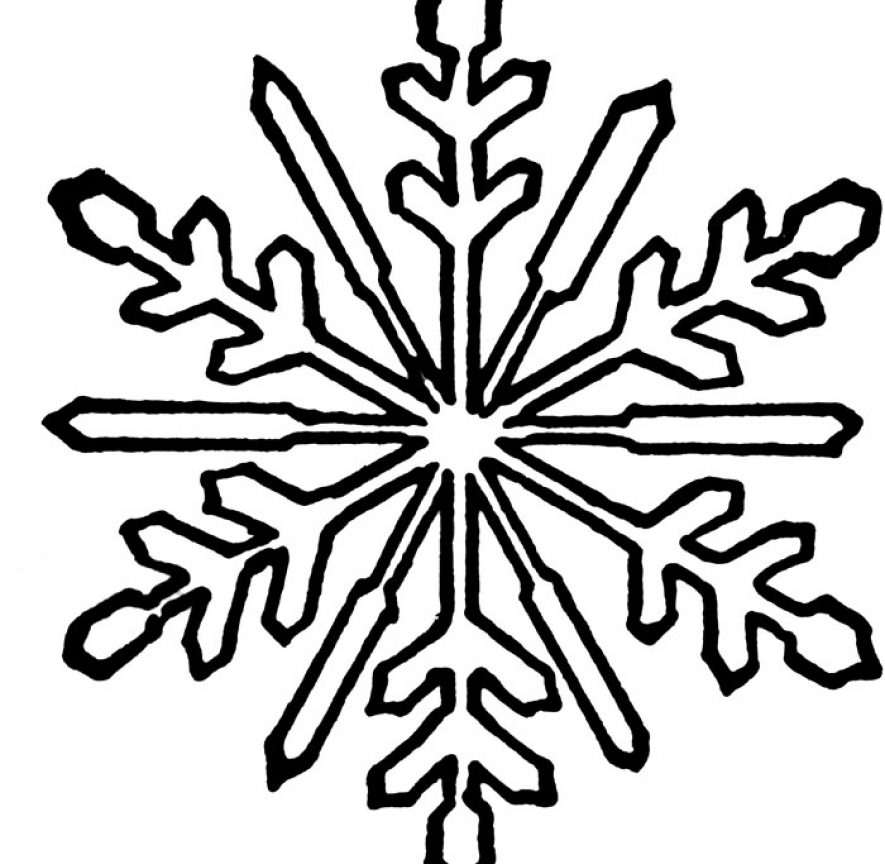 885x864 Free Snowflake Coloring Pages Printable Unique Adult Christmas