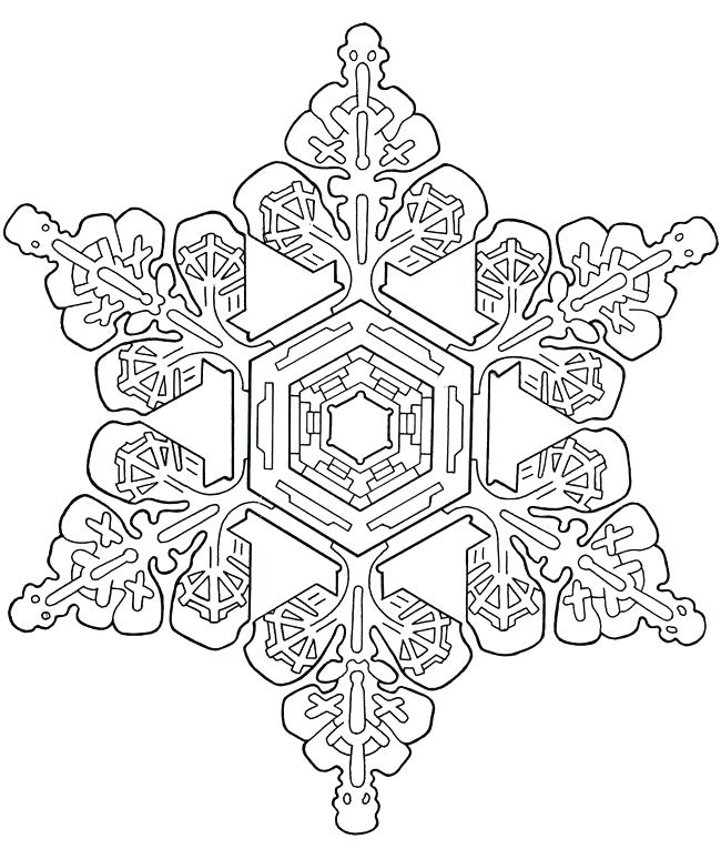 Easy Snowflake Coloring Pages At Getdrawings Free For