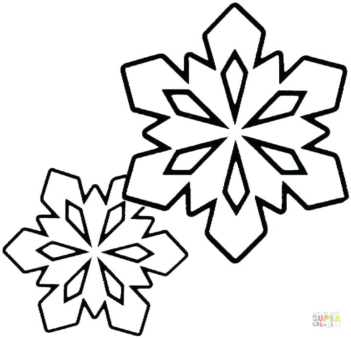 719x691 Snow Flake Coloring Page Click The Two Little Snowflakes Coloring