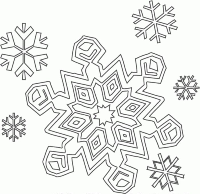 700x679 Lovely Simple Snowflake Template Template Free