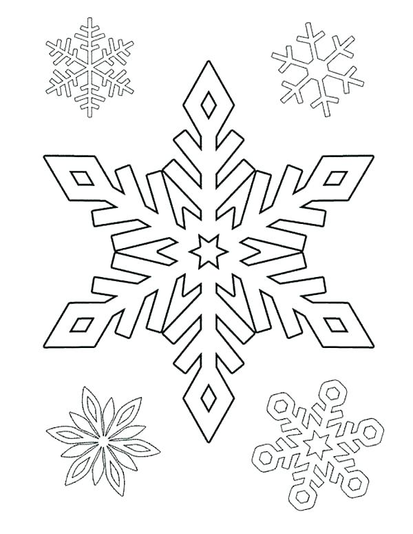 600x775 Snow Flake Coloring Pages Snowflake Coloring Pages Free Google
