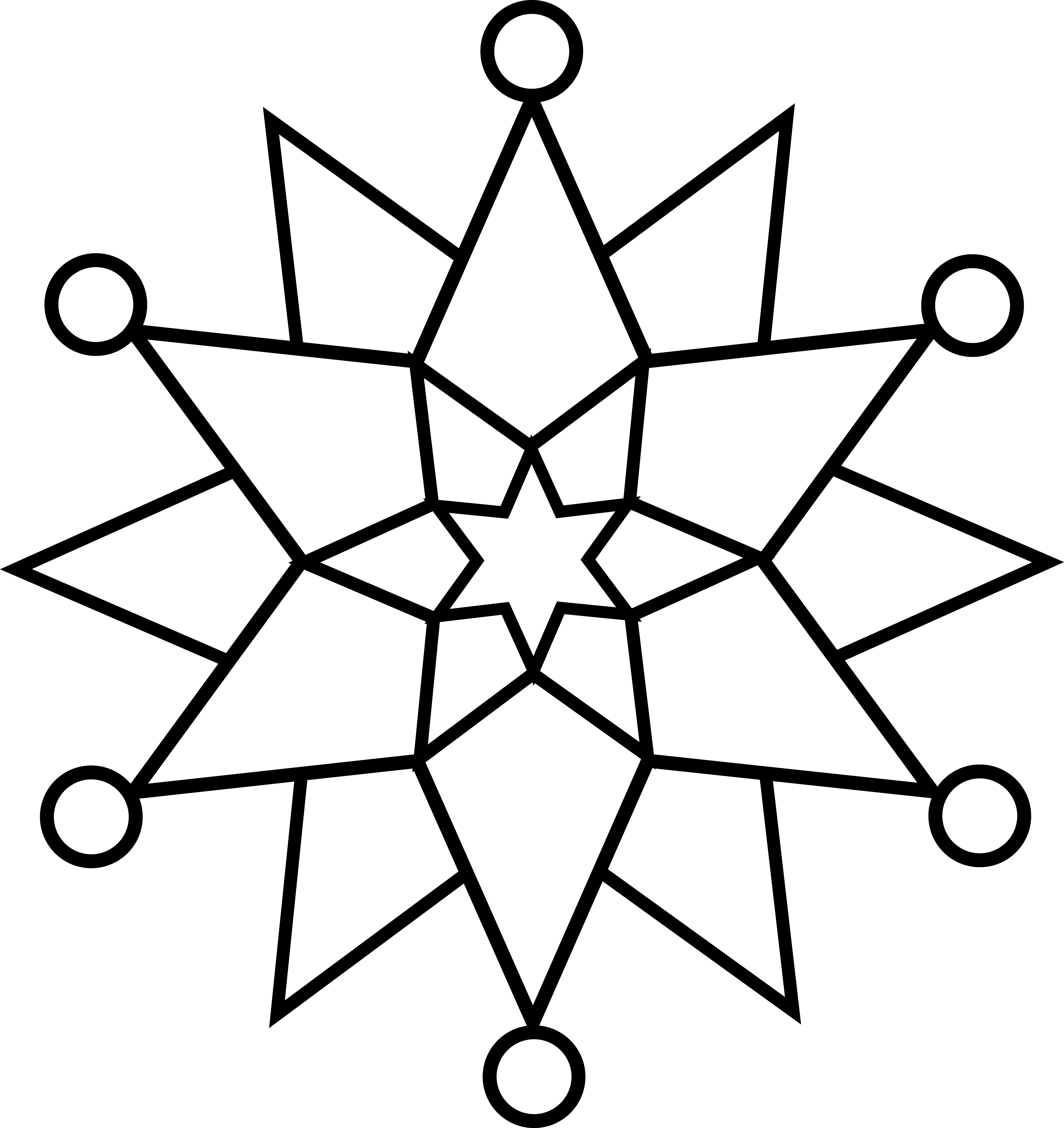 4472x4742 Snowflake Coloring Pages