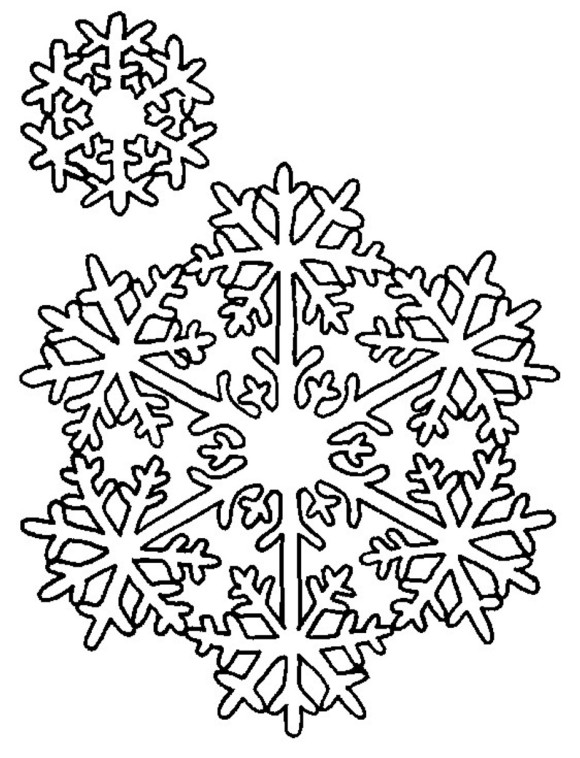 580x758 Snowflake Coloring Pages Coloring Silhouettes