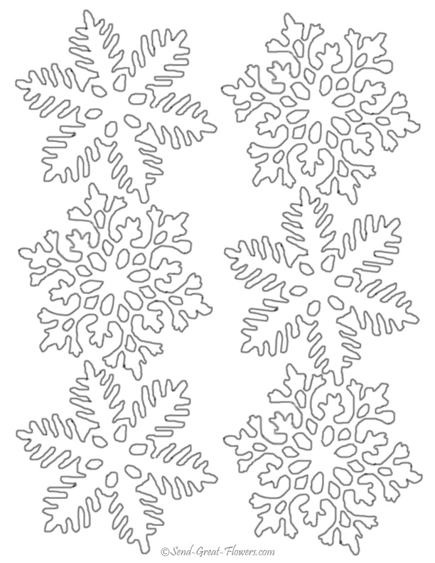 612x792 Snowflake Coloring Pages