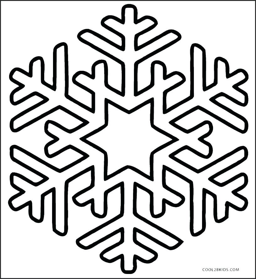 816x887 Snowflake Stencil Printable Patterns Easy Free Simple Frozen Free