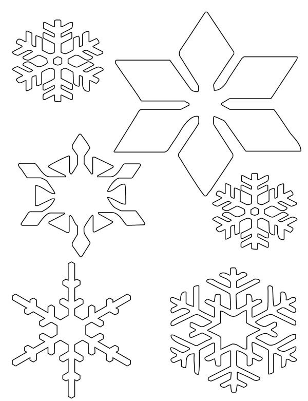 600x781 Christmas Snowflakes Coloring Pages