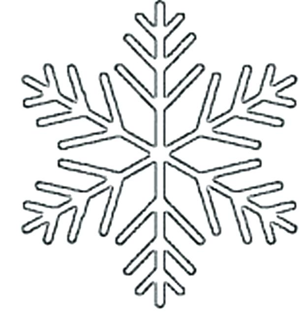 618x636 Snowflakes For Coloring Snowflake Tactile Coloring Page Simple