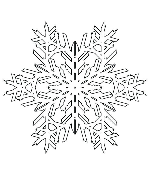 600x776 Free Printable Snowflake Coloring Pages